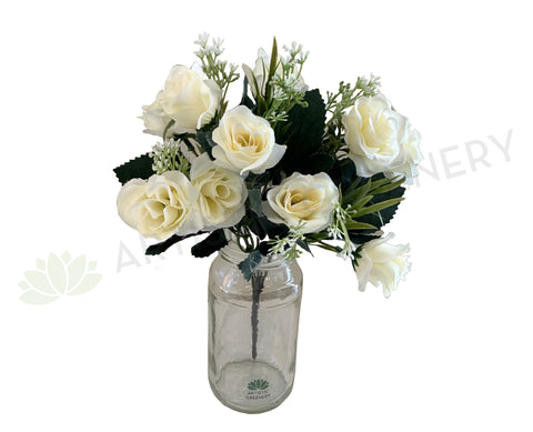 SP0303 Rose Bunch 29cm White