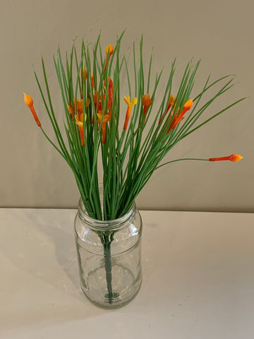 SP0317 Flowering Greenery 31vm Orange / White