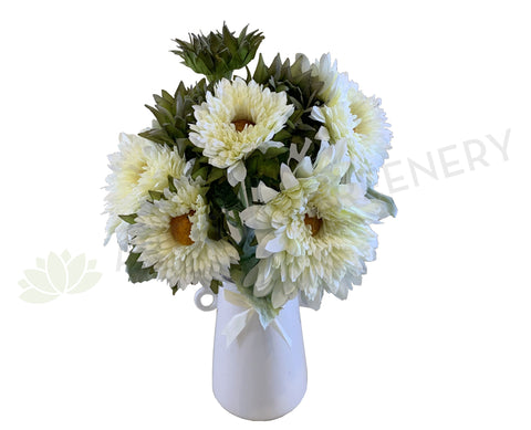 SP0318 Sunflower Bouquet 43cm White