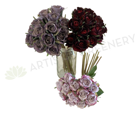 SP0319 Deluxe Rose Bunch 28cm 3 Colours