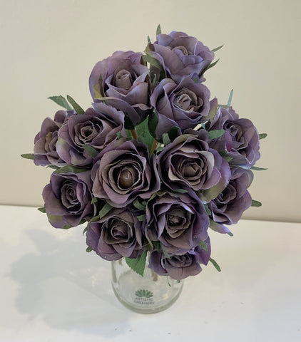 MAUVE - SP0319 Deluxe Rose Bunch 28cm