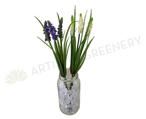 SP0320 Muscari 29cm Purple & White