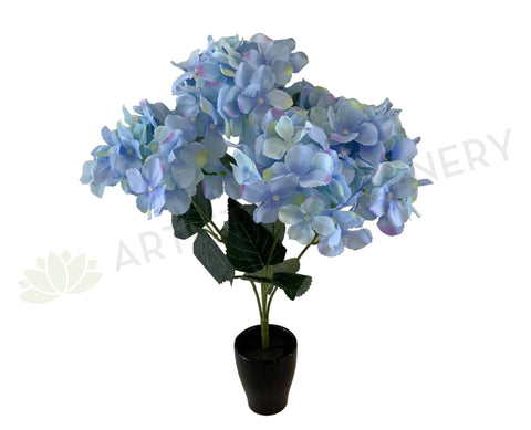 SP0340 Artificial Light Blue Hydrangea Bunch 42cm | ARTISTIC GREENERY