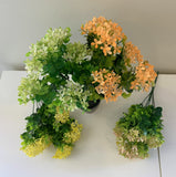 SP0355 Plastic Colourful Lace Flower Bunch with Greenery 30cm 4 Colours | ARTISTIC GREENERY