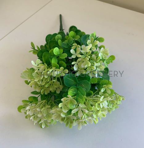Light Green - SP0355 Plastic Colourful Lace Flower Bunch with Greenery 30cm 4 Colours | ARTISTIC GREENERY