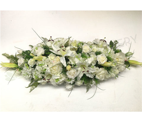 White Silk Floral Arrangement 70cm & 100cm Long - SYM0014