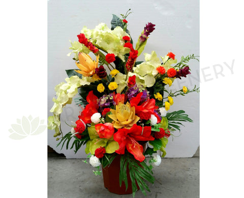 Roadside Memorial Flowers 100cm (Height) - SYM0027