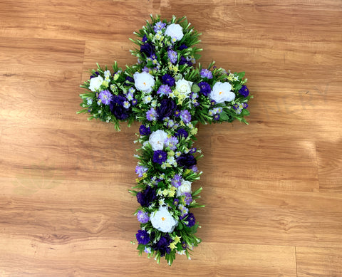 Fremantle Dockers Colour Theme Floral Cross 40cm / 70cm / 90cm (SYM0039)