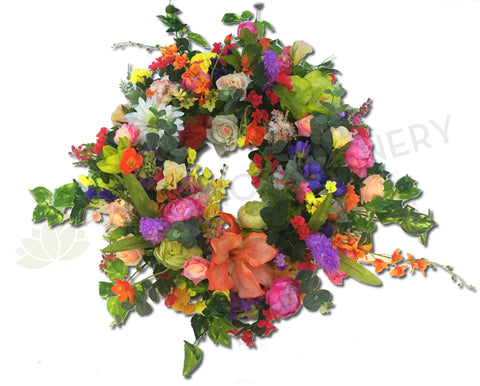 Large Spring Colour Floral Wreath 50cm / 80cm
