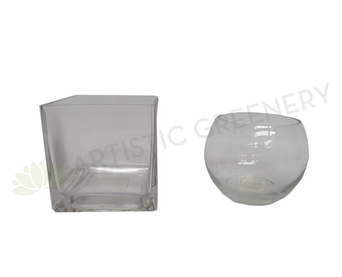 Clear Glass Vase - Square / Fish Bowl