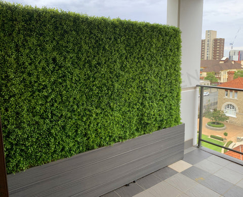 Home Interior Design - Made-to-order Artificial Hedge for Built-in Trough (Sue & Ray) | ARTISTIC GREENERY