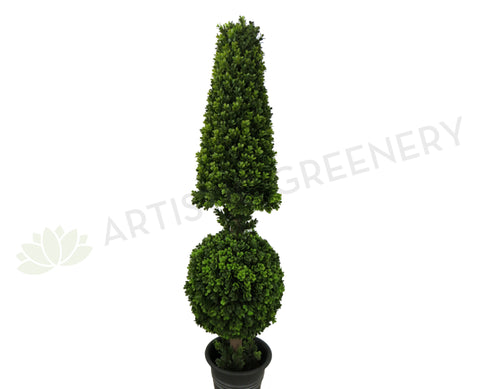 T0088 Boxwood Topiary Tree (Cone & Ball) 135cm