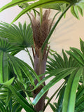 T0107-100 Artificial Ruffled Fan Palm Real Touch 100cm | ARTISTIC GREENERY