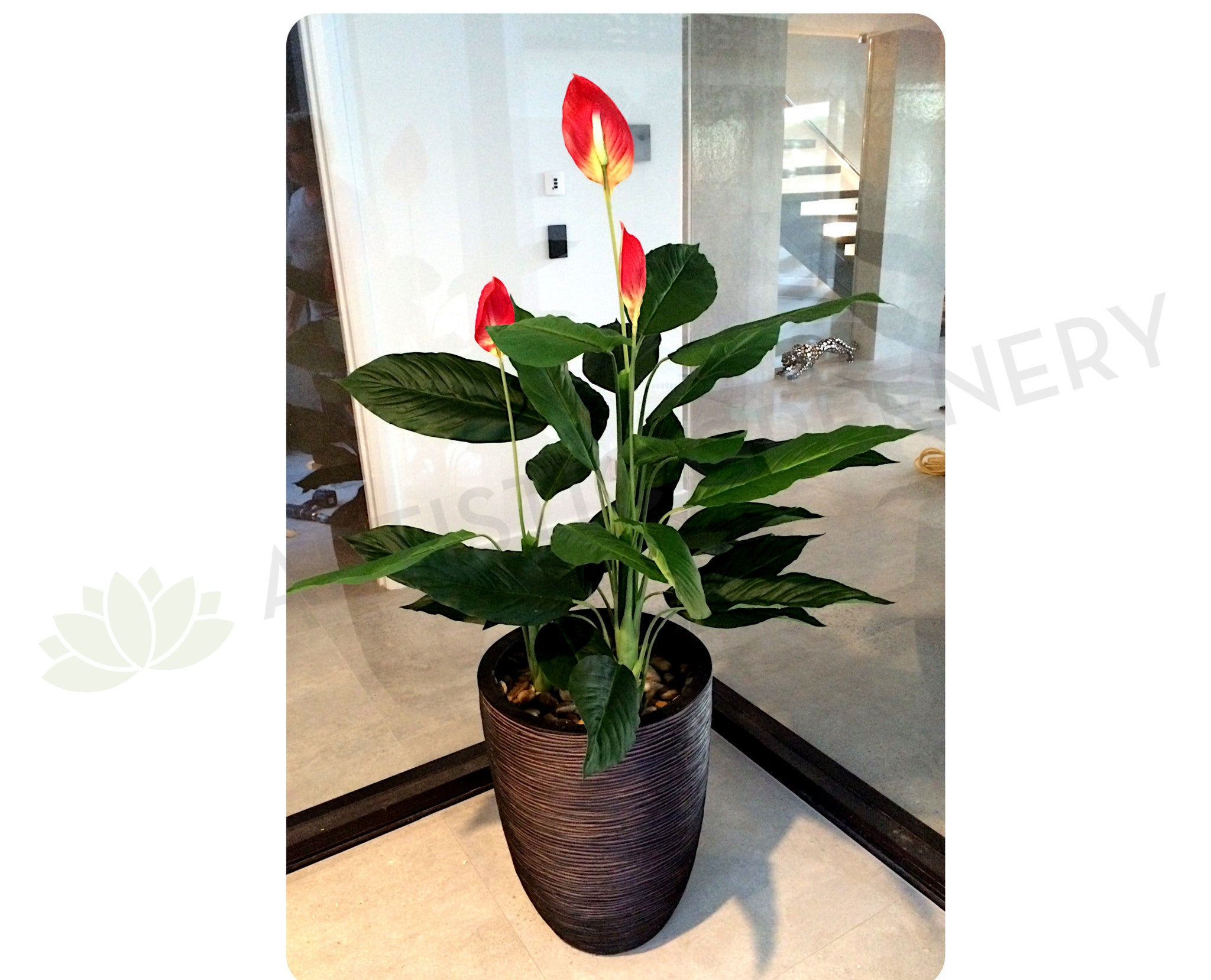 New artificial flowersplants t0115 peace lily plant 120cm orange ebay new artificial flowersplants t0115 peace lily plant 120cm orange izmirmasajfo