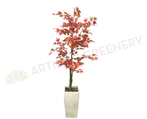 Very T0117GRE Artificial Maple Tree 180cm Red or Green Leaves Australia  FM43