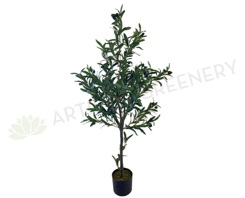 T0156 Artificial Olive Tree with Black Olives 120cm | ARTISTIC GREENERY