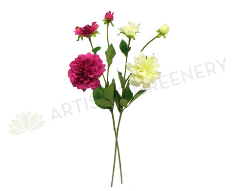 F0150 Dahlia Spray Small 60cm Pink / Cream