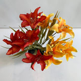 Clearance Stock - Silk Lily Bunch 31cm 2 Colours | ARTISTIC GREENERY