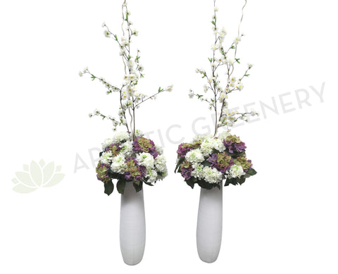 For Hire - Tall Floral Arrangement Purple & White or Pink & White