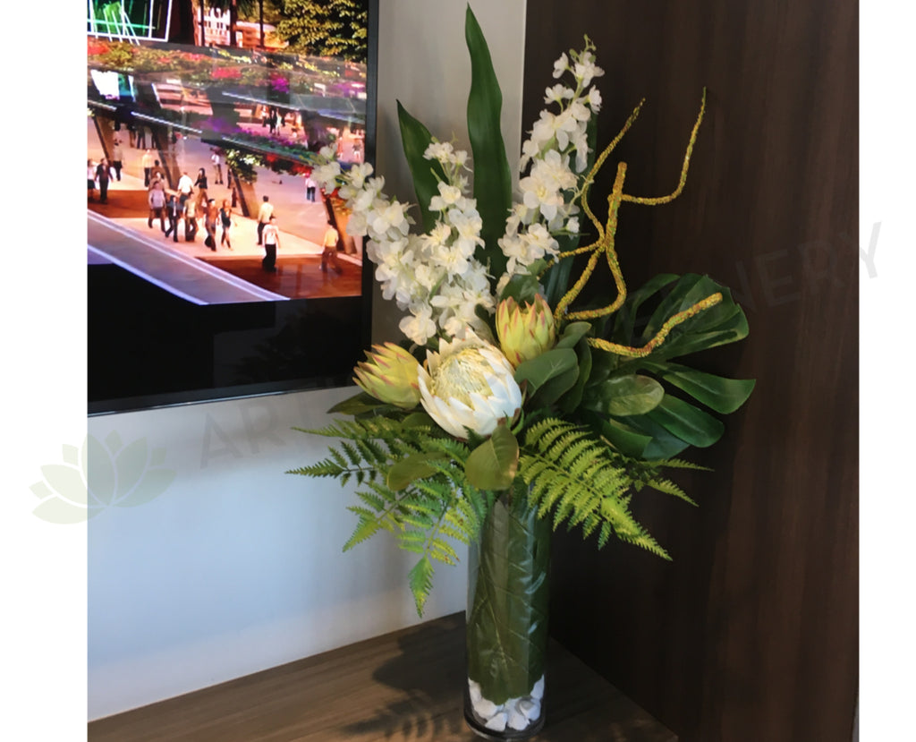 Fa1039 Perth Corporate Office Reception Silk Flowers Fake Flowers