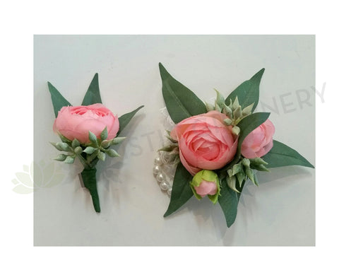 Corsage & Buttonhole - Pink Peony - Trudie