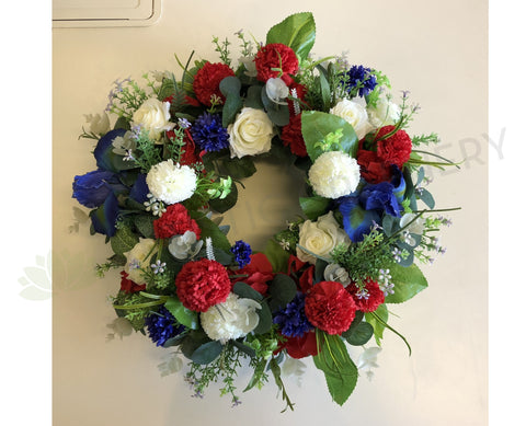 Trio Colour Floral Wreath 30cm / 40 / 50cm