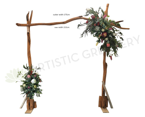 For Hire - Wedding Arbor with Native Flowers 275cm