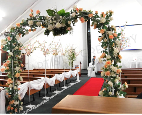 For hire wedding arch for hire perth australia decorated with silk for hire wedding arch decorated with flowers 250cm height junglespirit Image collections