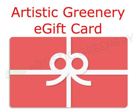 Artistic Greenery eGift Cards / eVoucher