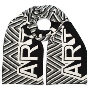 ART BLANKET SCARF BLACK & WHITE - GREEN THOMAS