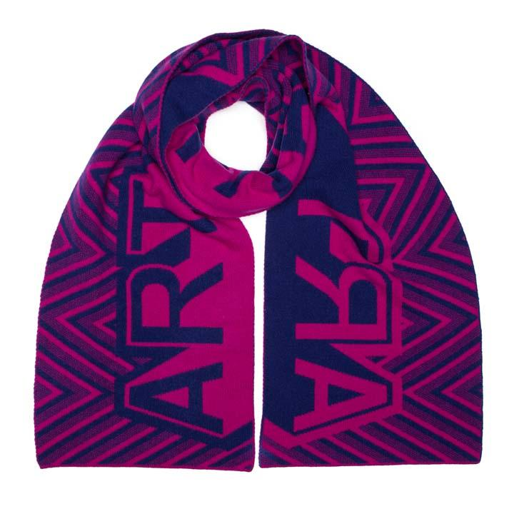 ART BLANKET SCARF MAGENTA BLUE - GREEN THOMAS