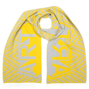 ART BLANKET SCARF YELLOW SILVER - GREEN THOMAS