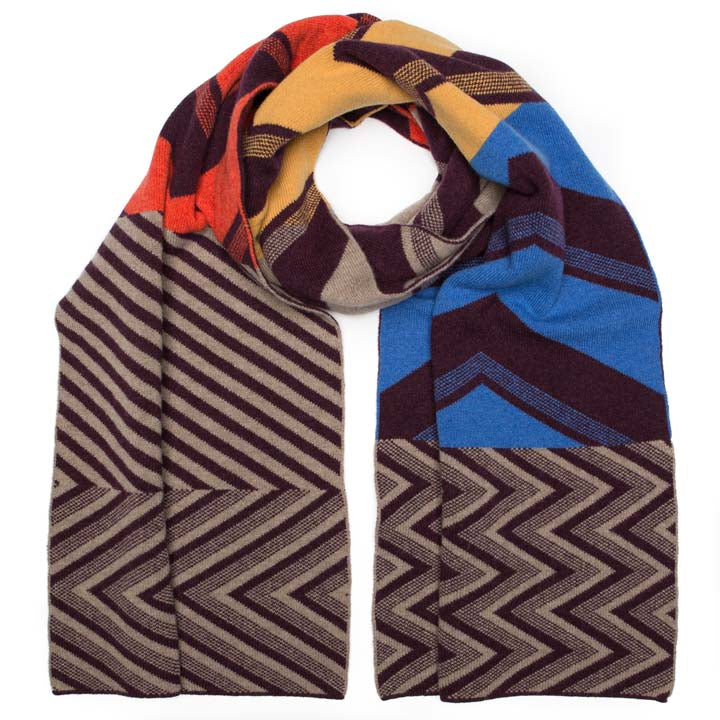 CHEVRON BLANKET SCARF NANA MIX - GREEN THOMAS