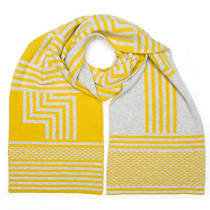 DECO BLANKET SCARF GOLD SILVER - GREEN THOMAS
