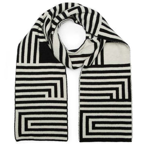 DECO SCARF BLACK WHITE - GREEN THOMAS