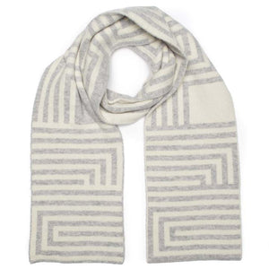 DECO SCARF SILVER WHITE - GREEN THOMAS