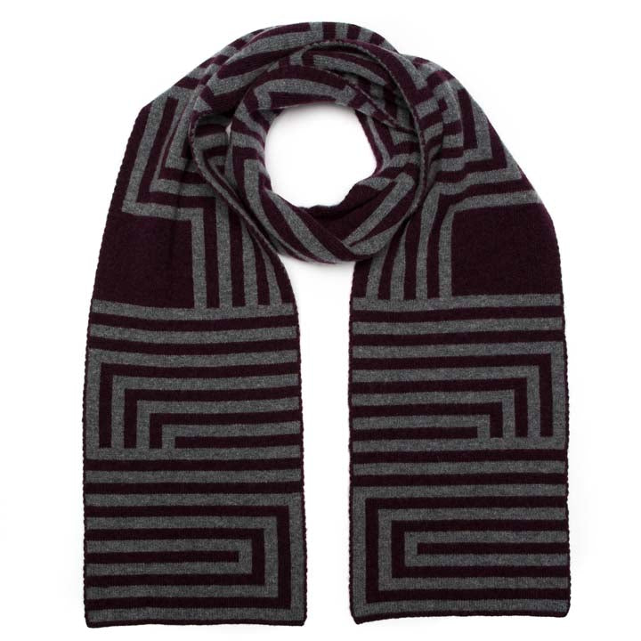 DECO SCARF WINTER MIX - GREEN THOMAS