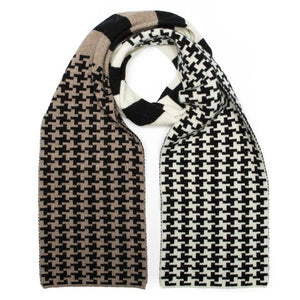 PIXEL SCARF BLACK CAMEL - GREEN THOMAS