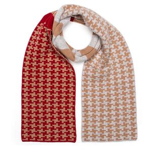 PIXEL SCARF CAMEL RED - GREEN THOMAS