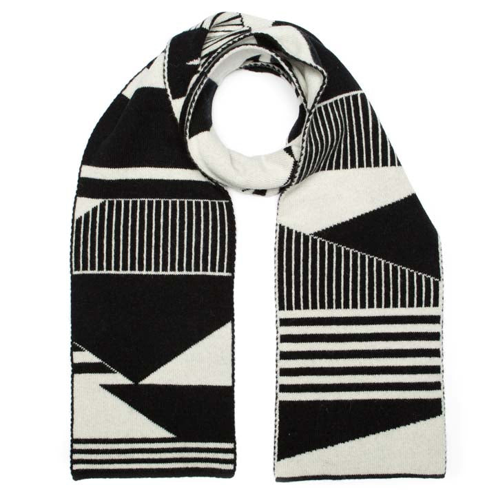 SEMAPHORE SCARF BLACK WHITE - GREEN THOMAS