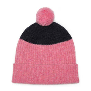 POM HAT PINK NAVY - GREEN THOMAS