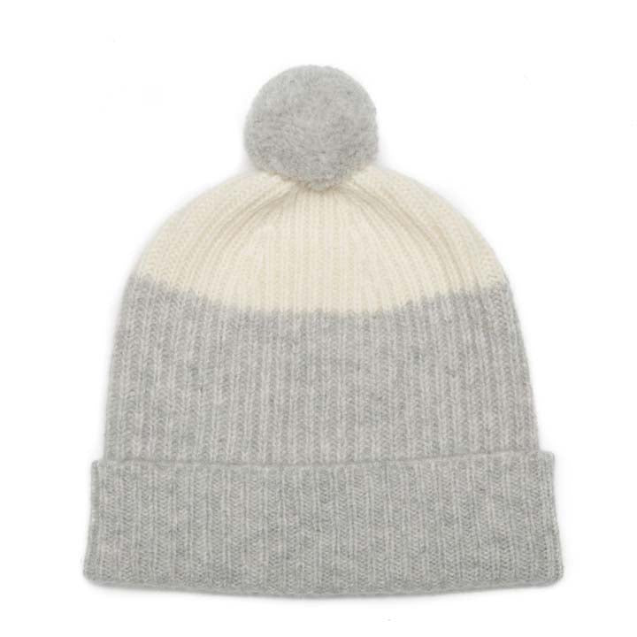 POM HAT SILVER WHITE - GREEN THOMAS