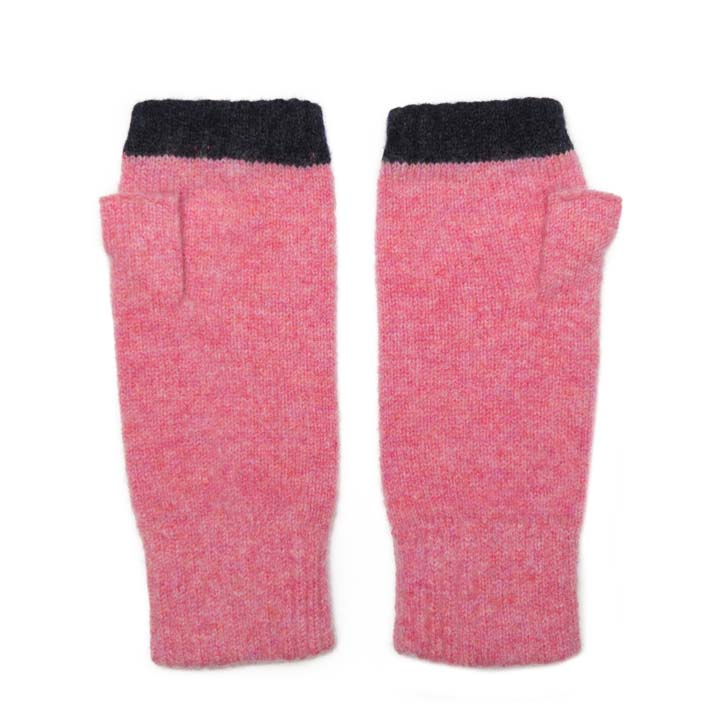 FINGERLESS GLOVE PINK NAVY - GREEN THOMAS