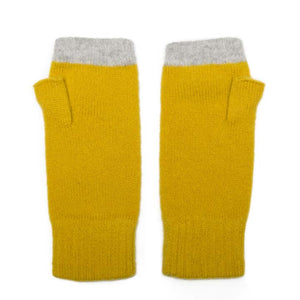 FINGERLESS GLOVE GOLD SILVER - GREEN THOMAS