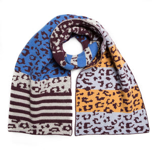 ANIMAL BLANKET SCARF NANA MIX - GREEN THOMAS