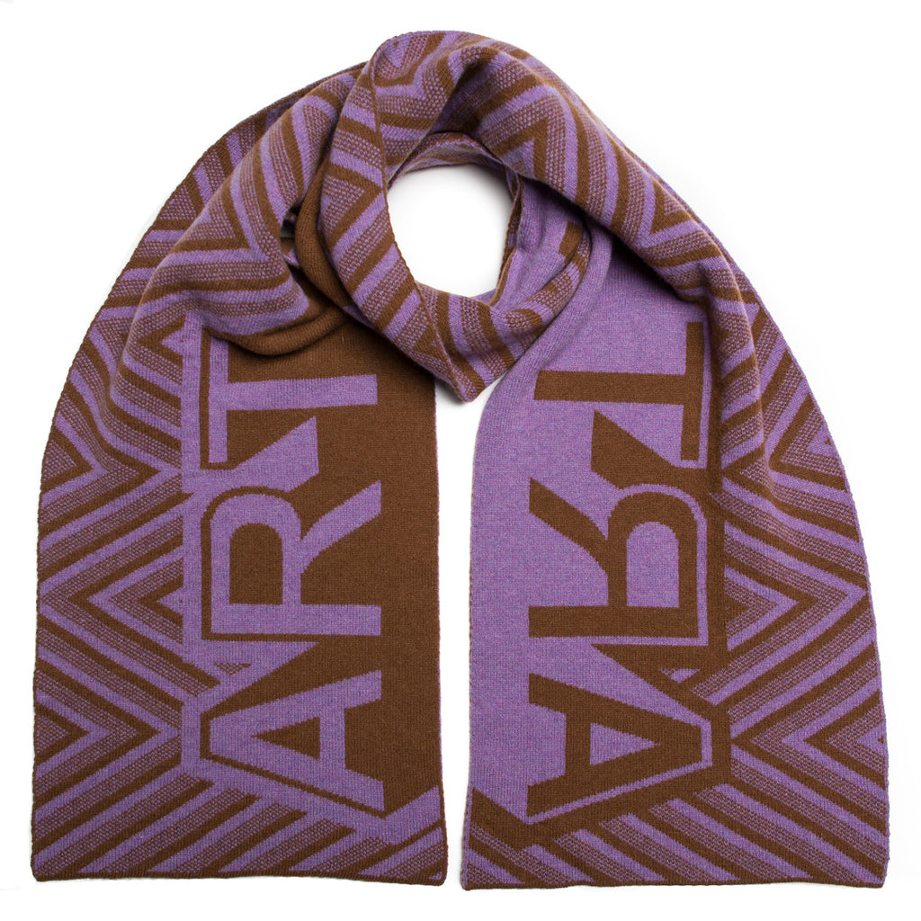 ART BLANKET SCARF TOFFEE VIOLET - GREEN THOMAS