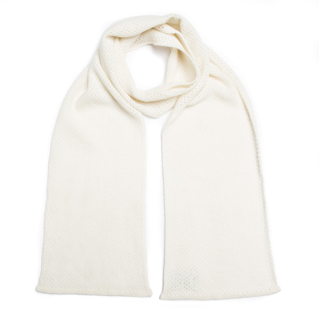 WHISPER SCARF WHITE - GREEN THOMAS