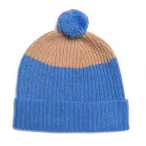 POM HAT BLUE CAMEL - GREEN THOMAS