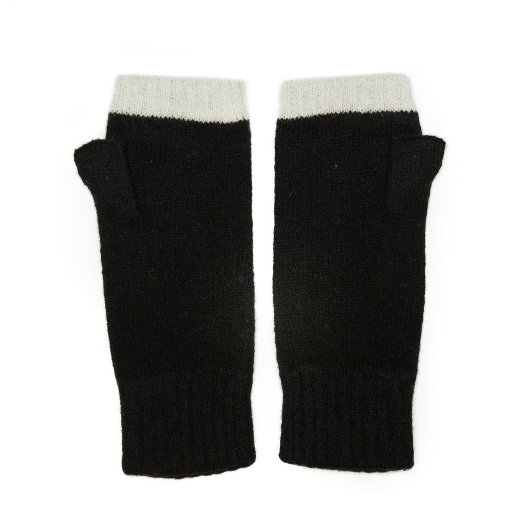 FINGERLESS GLOVE BLACK WHITE - GREEN THOMAS