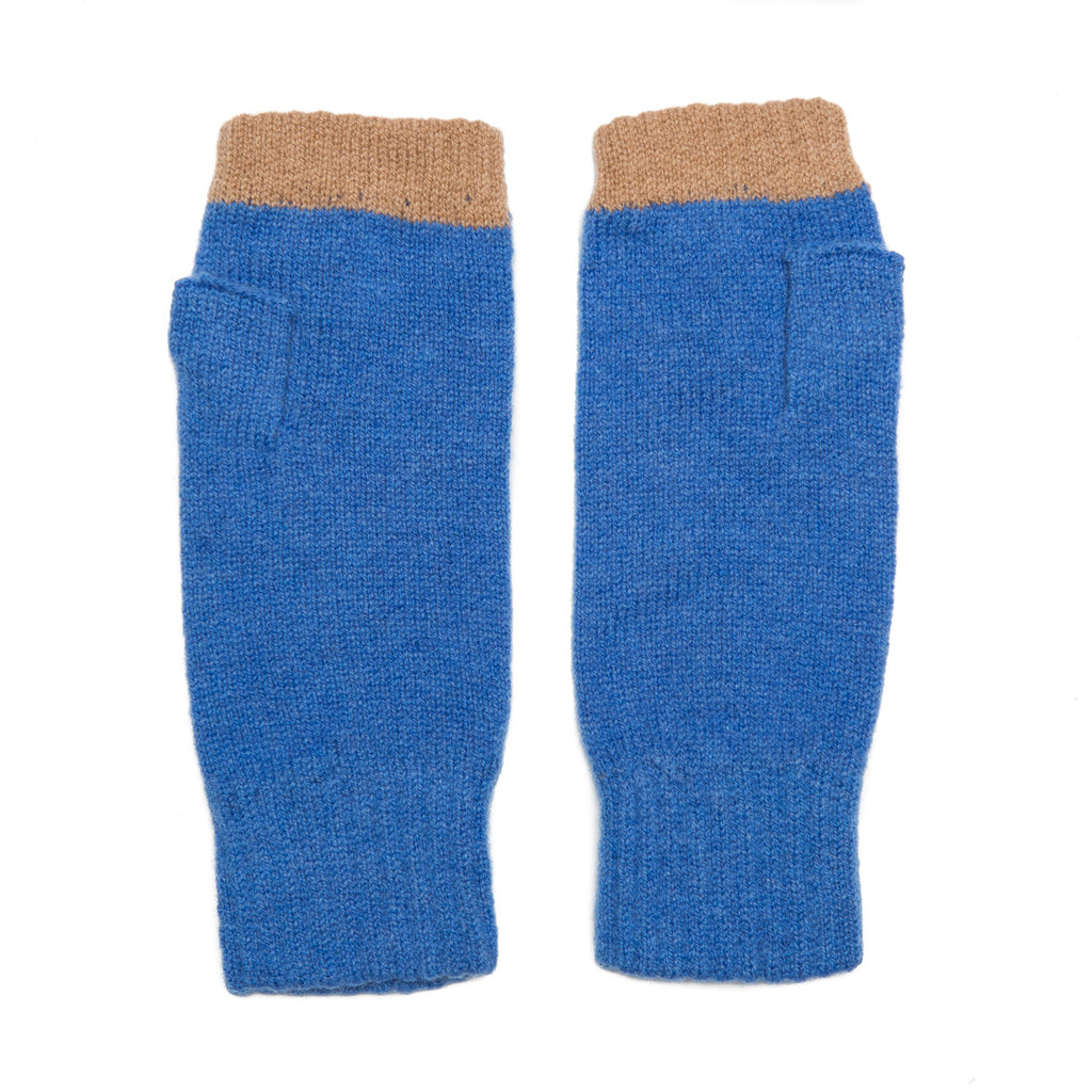 FINGERLESS GLOVE BLUE CAMEL - GREEN THOMAS